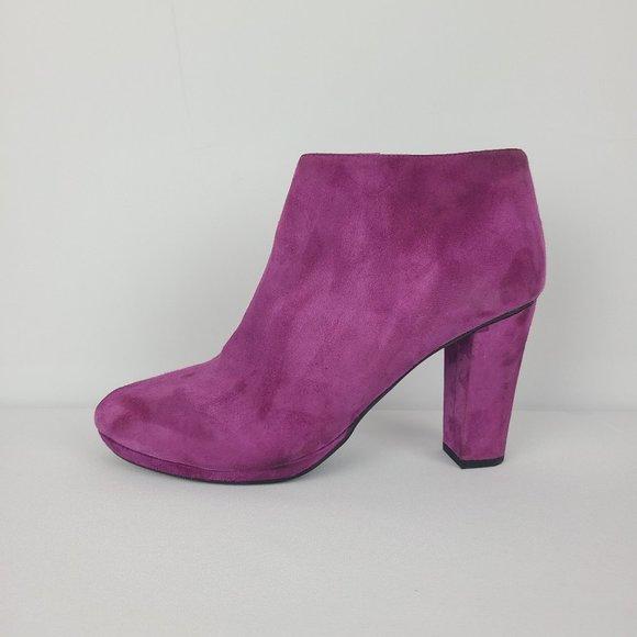 Geox Purple Suede Booties Size 10